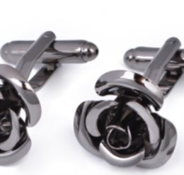Yoursfs Rose Tie Clip Cufflinks Set For Men Valentine's Gift Flower Wedding Tie Bar Cufflinks624 T2 on Sale