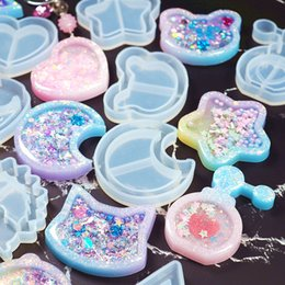 Wholesale 1pc Strawberry Shaker Silicone Molds Jewelry Mold UV Epoxy Resin Mold Key Chain Pendant Craft DIY Making Jewelry Mold Tool 1445 Q2