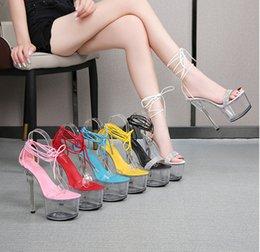 Femmes Plateforme Bout Ouvert Talons Aiguilles Cheville Boucle Pole Dancing Fashion Chaussures pompe