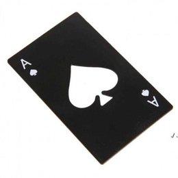 Wholesale Stainless Steel Bottle Opener,Bar Cooking Poker Playing Card of Spades Tools,Mini Wallet Credit Card Openers DWE10370