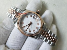 Topselling High Quality Ladies Wristwatches Two Tone Rose Gold 31mm White Dial 116610 Asia 2813 Mechanical Automatic Women's Watch Watches on Sale