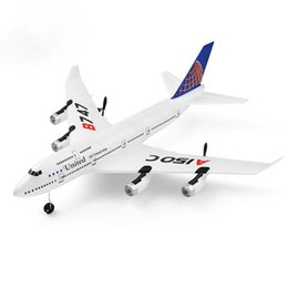 Wholesale 2020 NEW drone A150-C Boeing B747 Model RC Airplane 2 Channel Remote Control Aircraft Toys For Children Kids Boys