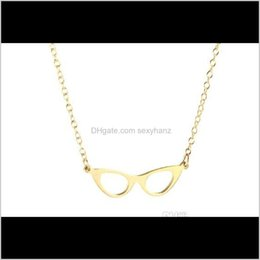 Wholesale lovers books resale online - Pendant Pendants Jewelry Drop Delivery Cat Eye Glasses Frame Necklace Simple Geometric Reading Book Lover Eyeglasses Chain Neckl