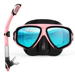 Copozz New Professional Scuba Diving Mask Snorkel Goggles Glasses Tube Set Men Women Silicone Swimming Pool Equipment sqclsG home2006 on Sale