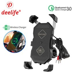 Wholesale moto smartphone resale online - Deelife Motorbike Motorcycle Phone Holder Wireless Charging for Moto X Grip Telephone Support Cell Mobile Stand Smartphone Mount Q0515