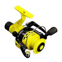 Wholesale Baitcasting Reels Yellow Spinning Fishing Reel 12BB Rear Brake Wheel Collapsible Left Right Interchangeable Arm For Pesca 2000-7000 4706 Q2
