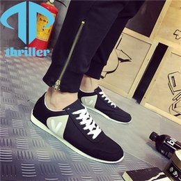Wholesale THRILLER Men's Casual Shoes Forrest Gump Canvas College British Style Light, Comfortable and Breathable