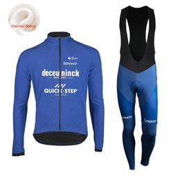Wholesale Racing Sets Men Quick Step Cycling Jersey Set Winter Clothing Long Sleeve Road Bike Suit Maillot Ropa Ciclismo Cyclisme