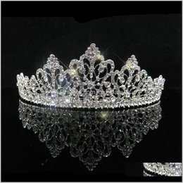 european rhinestone tiara 2021 - European Design Shiny Pearl Crystal Wedding Royal Crown Bridal Rhinestone Tiaras Crowns Pageant Qpayp Hair Ehwku