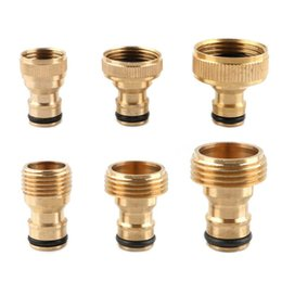 brass water nozzles UK - 1pc Brass Thread Quick Connector Garden Irrigation Faucet Nozzle Adapter Water Gun Joints Watering Equipments
