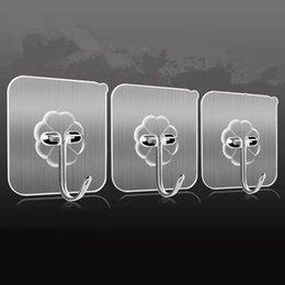 Faydalı Mutfak Duvar Uzay Kanca Plastik Paslanmaz Çelik Malzemeler Traceless Süper Tutkal Temizle Metope Giyim Pothook Navlun Ücretsiz