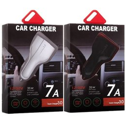 Wholesale iphone adapters resale online - Type c car charger Usb Ports fast quick charging auto power adapter W A car chargers for ipad iphone x samsung s7 s8 android phone