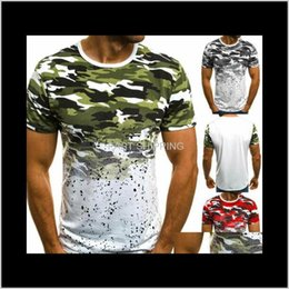 Discount slim fit gym t shirt Men'S T-Shirts Apparel Mens Gym Casual Summer Slim Fit Short Sleeve Muscle Tees Tops Fashion O Neck Cotton Camouflage Print B Nijwh