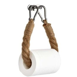 Toilet Paper Holders Shelves For Toilets Vintage Towel Hanging Rope Tissue Holder Home Hotel Bathroom Decoration Supplies GGA5142 on Sale