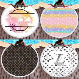Wholesale round letter casual ins style beach towel fashion summer bath towels high quality classic design home gift