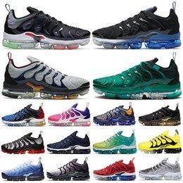Toptan satış vapormax tn Plus vapor max BÜYÜK BOY 13 Pembe Metalik Altın erkek koşu ayakkabıları Coquettish Mor Hiper Menekşe Limon Kireç Kadın spor eğitmenleri spor ayakkabısı