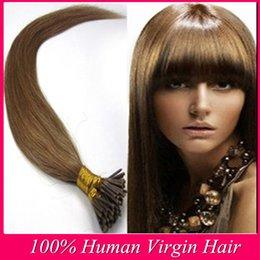 12-26 pcs Brazilian I-tip Extensions 100% real straight Human Hair