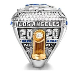 Wholesale Personal collection 2020-2021 Los Angeles Dodge style Baseball Nation Championship Ring with Collector's Display Case