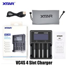 Authentic Xtar VC4S Battery Charger Inteligent Mod 4 Slot with LCD Display for 18350 18550 18650 16650 26650 Li-ion Batteries 100% Original on Sale