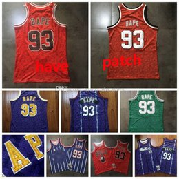 Men 93 BAPExMITCHELL & NESS Green Purple yellow red 1982-83 Classics Double-Embroidered Jersey youth s-2xl basketball jersey 02 on Sale