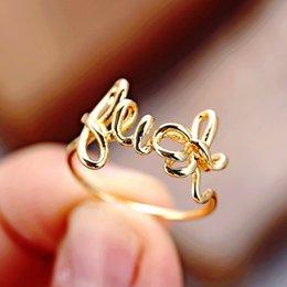 Опт Золотые удача кольца для женщин, дизайнерское кольцо