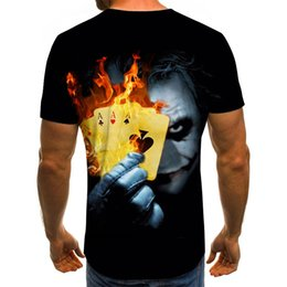 men t shirts 3d graphics NZ - Men 2020 New Graphic T-shirts Clown Theme T-shirt 3D Fashion Tops Summer O-neck Shirt Young Costume Plus Size Street outfit