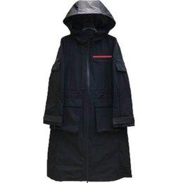 Опт Женская длинная куртка Windbraver с поясом Отрегулируйте пальто Весна Осенние куртки Платье Тонкий стиль для леди Trench Coats с карманами