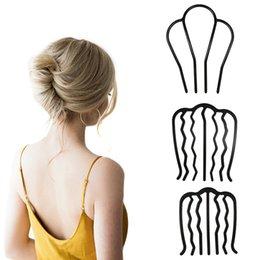 Estilo coreano pente de cabelo simples moda mulheres estilizando ferramenta trançando torção garfo cabelo encaracolado grampo ornamento em Promoção