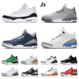 Toptan satış AJ3 air jordan Erkek basketbol ayakkabı 3 s 3 unc jumpman sneakers mahkemesi mor serin gri katrina parça varsity kraliyet nrg çimento beyaz siyah turuncu kırmızı