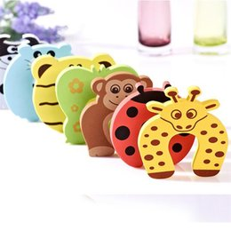 Wholesale New Care Child kids Baby Animal Cartoon Jammers Stop Door stopper holder lock Safety Guard Finger 840 X2