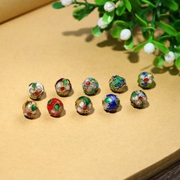 Wholesale 8 10 12mm Copper Enamel Beads charms for Jewelry Making diy accessories for woman Cloisonne Spacer Beads Wholesale M502 1766 Q2