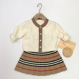 Trendy peuter meisje jurken lente ontwerper pasgeboren baby schattige kleding voor kleine meisjes outfit doek