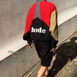 Wholesale s pill resale online - Rhude3m reflective pill color matching assault suit men s high street fashion brand ins loose short collar jacket