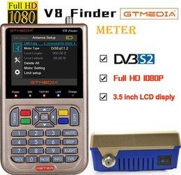 Wholesale GTmedia V8 Finder Meter DVB-S2 S2X Satellite Meter Satellite Finder satfinder better than freesat v8 finder Digital Sat locator