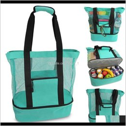 Discount large designer beach bags Housekeeping Organization Home Garden Drop Delivery 2021 Outdoor Picnic Beach Camping Ice Bag Multifunction Large Capacity Handbags Food Pres