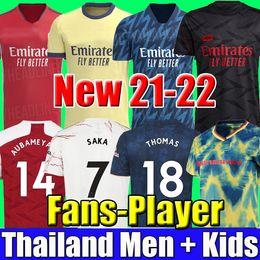 venda por atacado Tailândia 20 21 Camisetas de futebol do Arsenal 20 21 PEPE SAKA NICOLAS TIERNEY HENRY WILLIAN 2020 2021 Conjunto de camisetas de futebol da LACAZETTE para homens e crianças
