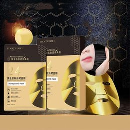 collagen face sheet masks UK - Golden Honeycomb Mask Collagen Moisturizing Repair Anti Aging Masks
