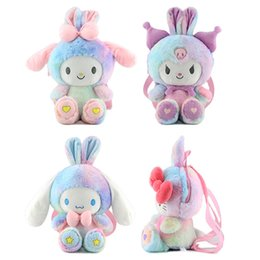 40cm transformation cat melody plush doll children backpacks cute girl heart cross-body bag travel bags on Sale