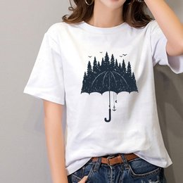 forest shirt 2021 - Women T Shirt Plus Size S 3XL Forest Print Cotton O Neck Short Sleeve Tops Summer Casual Shirts