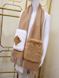 Wholesale Winter Scarfs for Man Womens Scarves Shawl Warm Anti Cold Stylish Pocket Design Highly Quality Hot Tops Size 190*46cm 2 Colors Optional
