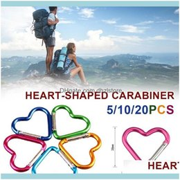 Travel Kit Keychain Clip Heart-shaped Buckles Aluminum Carabiner Keyring Hook