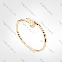 Classic Nail Bracelet mens Bracelets 2020 designer Bangle luxury jewelry women Titanium steel Alloy Gold-Plated Craft Gold Silver Rose Never fade Not allergic on Sale