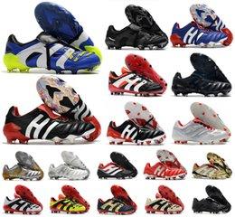 Wholesale Men Predator Accelerator Eternal Class 20+ soccer shoes Mutator Mania Tormentor Electricity Precision 20+x FG Beckham DB Zidane ZZ cleats football boots