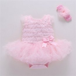 Wholesale Girls summer 0-1 birthday party net yarn baby infant first year old fluffy dress Z1214 80 Z2