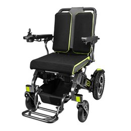 (Health Gadgets) YE-200 foldable electric wheelchair, all terrain mobility solution with aluminum frame, brushless motor and 150kg weight capacity