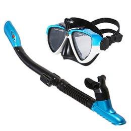 Máscara de tubo de snorkel de Lixada Anti-niebla gafas de buceo Gafas de natación con montaje en cámara Accesorios en venta