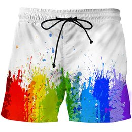 sports art paintings UK - Shorts Painting Art 3d Printing Swimwear Swim Trunks Beach Board Swimming Pants Swimsuits Mens Running Sports
