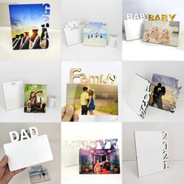 Wholesale DIY Photo Frame Multiple Types To Choose Sublimation Blank Board MDF Wooden Heat Transfer Hollowing Boards Photos Frames