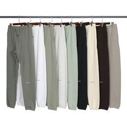 Venta al por mayor de Otoño Invierno EE.UU. 3M Pantalones reflectantes Pantalones Casual Matcha Green Coffee Brown Sweetstring Sweachs Men Mujer Jogger