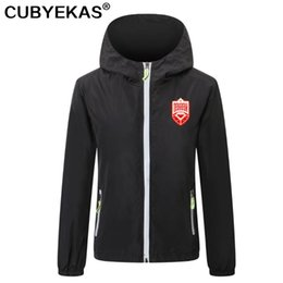 hooded trench men Australia - 2021 Bahrain soccer Mens Trench Coats football Windbreaker jackets zipper Hooded Men casual jacket hoodie coat Print team badge Asia size S-4XL